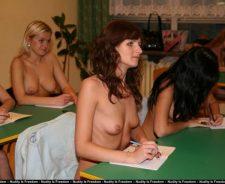 Nude Girls High Schools Studies Class