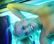 Nude Tanning Bed Self Shot