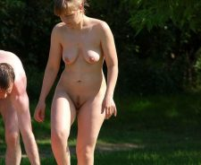 Nudist Couple Having A Peaceful Time In Nature
