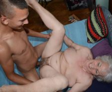 Old Hairy Granny Norma Gets Her Pussy Pounded