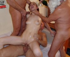 Old Slut Gangbang