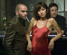 Olga Kurylenko Red Dress In Bar