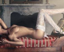 Perfect Body Sexy Stockings Hot Brunette Girl