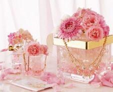 Pink Wedding Flowers Background