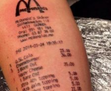 Receipt Mcdonald S Tattoo