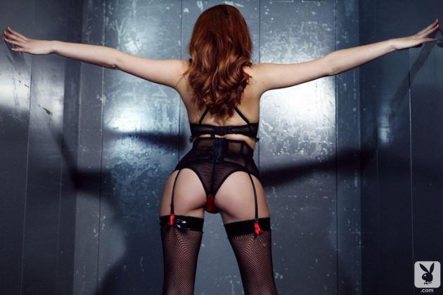 Redhead Girl Sexy Underwear Stockings Panties Big Hot Ass