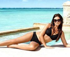 Sexy Bikini Babe On Beach