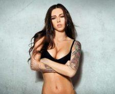 Sexy Diana Melison Black Bra Tattoos Wallpaper