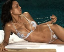 Sexy Girl In Transparent Bikini