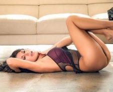 Sexy Hot Girl Brunette Pose Model Underwear