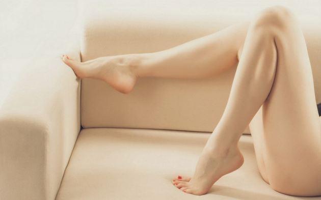 Sexy Legs Sofa Red Nail Polish