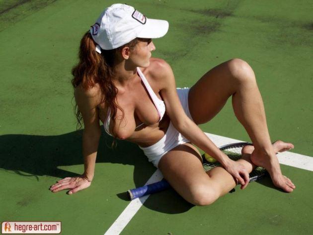 Nude tennis Seven women
