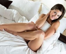 Sexy Teen In Bed Cute Smiling