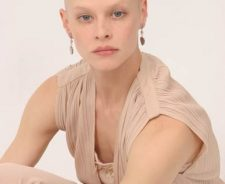 Shaved bald head girls nude