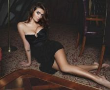 Short Black Dress Big Tits Lying On Floor Girl Legs
