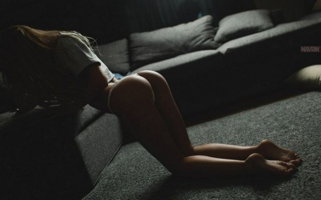 Silhouette Perfect Ass Knees Low Light Girl
