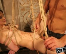 Skinny Brunette Bondage Porn