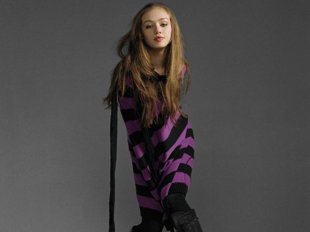 Skye Sweetnam Striped Dress Looking Hot