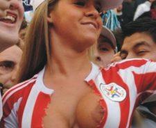 Soccer Fan Nip Slip