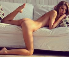 Sofa Pose Legs Sexy Hot Body Nude Brunette Girl