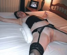 Spread Eagle Tied On Bed