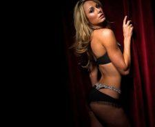 Stacy Keibler Black Bikini