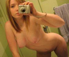 Strawberry Blonde Teen Selfie