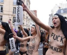 Topless Nuns Anti Gay Marriage Protest Paris