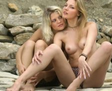 Valentina A Iveta Blonde Girls Outdoors Valia Svetlana Tits Boobs Rocks
