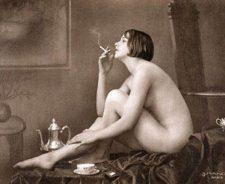 Vintage Nude Women Smoking