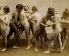 Vintage Nude Women Wrestling