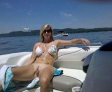 Wife Naked On Pontoon Boat