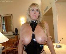 Wifey Dressed In Leather Suit Mistress