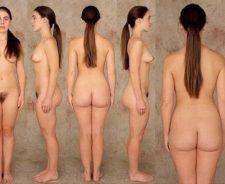 Woman Dressed Undressed Posture