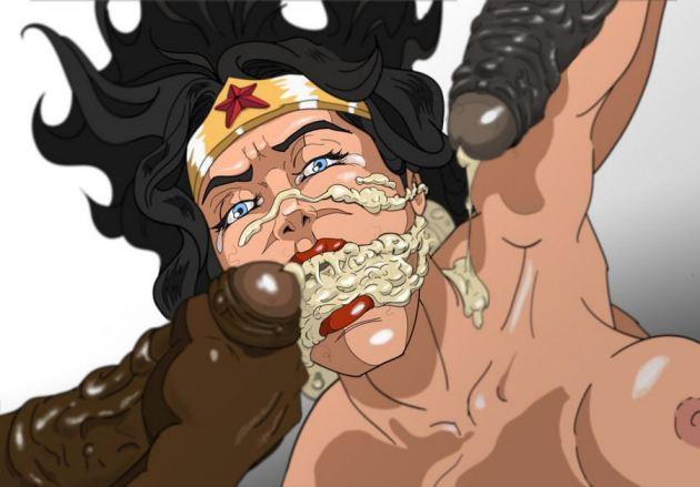 Wonder Woman Cum In Mouth
