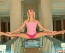 Young Flexible Girl Contortionist