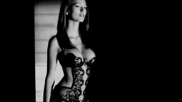 Zsuzsanna Ripli Model Brunette Negligee